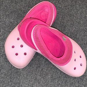 Two tone pink Crocs